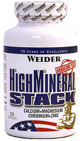 Минералы Weider High Mineral Stack 120 капс.